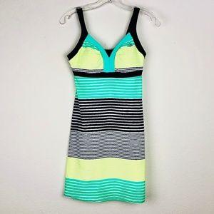 ZeroXposur Swim Dress Yellow green woman's Dress S